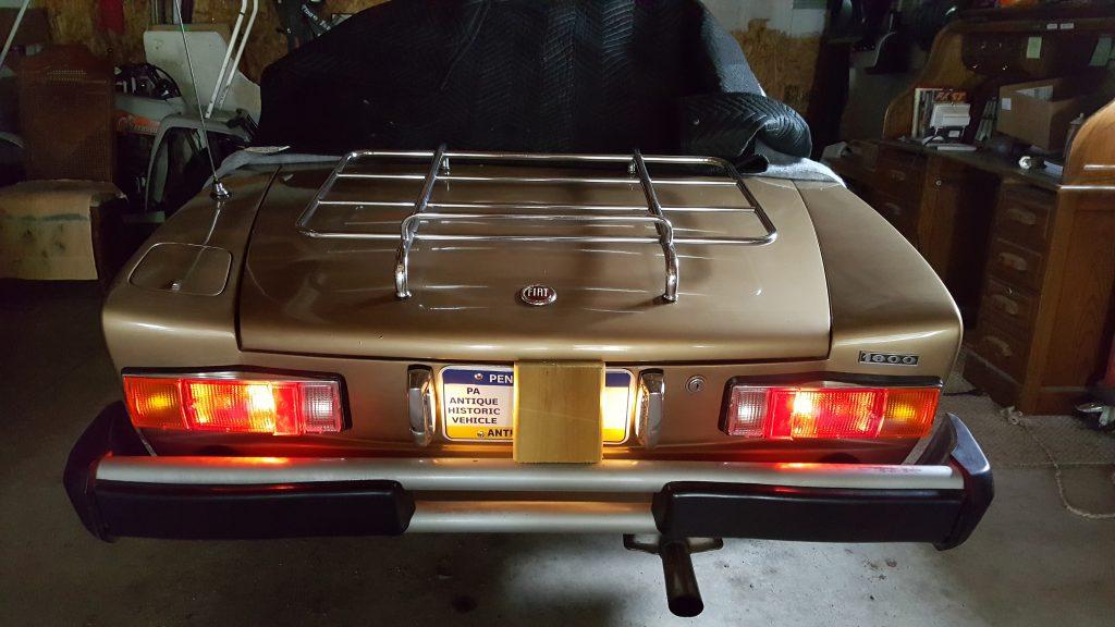 1978 Fiat Spider taillight upgrade